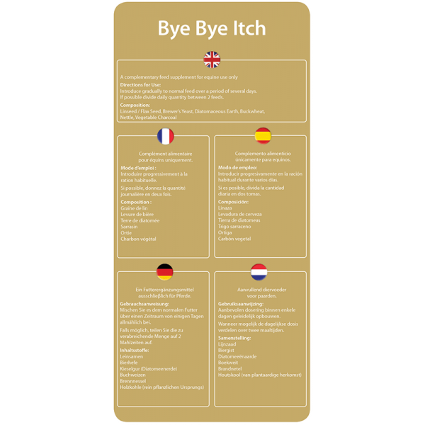 Bye-Bye-Itch-Cheval-Resk-étiquette-arrière